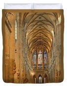 The Enormous Interior Of St. Vitus Cathedral Prague Duvet Cover by Christine Till