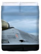 The F-16 Aircraft Of The Belgian Army Duvet Cover by Luc De Jaeger