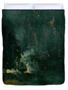 The Falling Rocket Duvet Cover by James Abbott Whistler