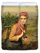 The Fern Gatherer Duvet Cover by Charles Sillem Lidderdale