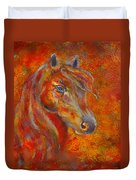 The Fire Of Passion Duvet Cover by The Art With A Heart By Charlotte Phillips