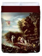 The Four Elements  Duvet Cover by Flemish School