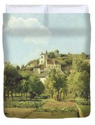 The Gardens Of The Hermitage Duvet Cover by Camille Pissarro