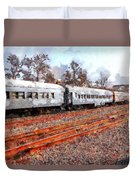 The Golden Age Of Railroads . 7d115623 Duvet Cover by Wingsdomain Art and Photography
