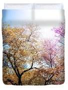 The Grandest Of Dreams - Cherry Blossoms - Brooklyn Botanic Garden Duvet Cover by Vivienne Gucwa