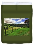 The Green Green Grass Of Home Duvet Cover by Kaye Menner