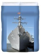 The Guided Missile Destroyer Uss Cole Duvet Cover by Stocktrek Images