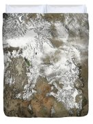The High Peaks Of The Rocky Mountains Duvet Cover by Stocktrek Images