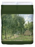 The House In The Forest Duvet Cover by Camille Pissarro