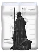The Iron Knight - Darth Vader Watches Over Prague Cz Duvet Cover by Christine Till