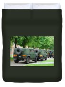 The Iveco Lmv Of The Belgian Army Duvet Cover by Luc De Jaeger