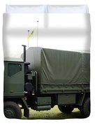 The Iveco M250 8 Ton Truck Used Duvet Cover by Luc De Jaeger