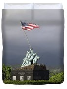 The Iwo Jima Statue Duvet Cover by Michael Wood