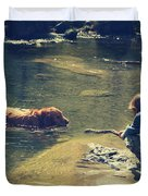 The Joys of Innocence Duvet Cover by Laurie Search