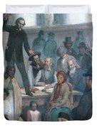 The Last Slave Sale Duvet Cover by Photo Researchers