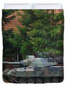 The Leopard 1a5 Main Battle Tank In Use Duvet Cover by Luc De Jaeger