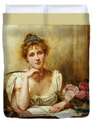 The Letter Duvet Cover by George Goodwin Kilbourne