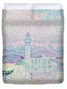 The Lighthouse at Antibes Duvet Cover by Paul Signac