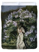 The Lilac Bush Duvet Cover by Olaf Isaachsen