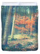 The Little Red Tree - Vintage Duvet Cover by Hannes Cmarits
