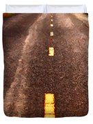 The Long Road Home . Painterly Style . Long Size Duvet Cover by Wingsdomain Art and Photography