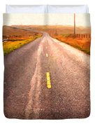 The Long Road Home . Painterly Style Duvet Cover by Wingsdomain Art and Photography