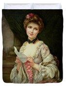 The Love Letter Duvet Cover by Francois Martin-Kayel