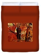 The Magic Of Autumn - Digital Abstract Duvet Cover by Carol Groenen