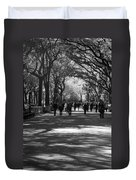 The Mall At Central Park Duvet Cover by Rob Hans