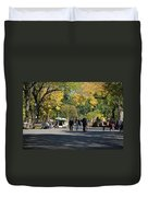 The Mall In Central Park Duvet Cover by Rob Hans