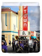 The Marching Band at The Uptown Theater in Napa California . 7D8925 Duvet Cover by Wingsdomain Art and Photography