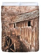 The Mill At Cade's Cove Duvet Cover by Debra and Dave Vanderlaan