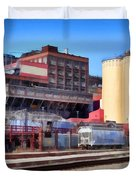The Old C and H Pure Cane Sugar Plant in Crockett California . 5D16770 Duvet Cover by Wingsdomain Art and Photography