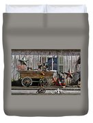 The Old Shed Duvet Cover by Mary Machare