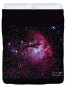 The Pacman Nebula Duvet Cover by Robert Gendler