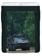 The Pandur Recce Vehicle In Use Duvet Cover by Luc De Jaeger