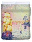 The Port of Marseilles Duvet Cover by Henri-Edmond Cross