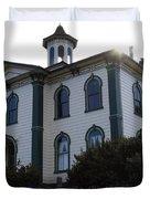 The Potter School House . Bodega Bay . Town of Bodega . California . 7D12477 Duvet Cover by Wingsdomain Art and Photography