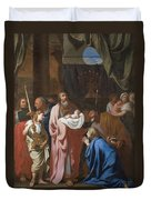 The Presentation Of Christ In The Temple Duvet Cover by Charles Le Brun