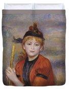 The Rambler Duvet Cover by Pierre Auguste Renoir