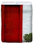 The Red Door Duvet Cover by Karon Melillo DeVega