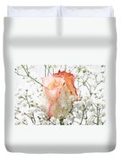 The Rose Duvet Cover by Andee Design