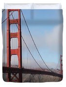 The San Francisco Golden Gate Bridge - 5d18906 Duvet Cover by Wingsdomain Art and Photography