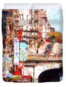 The San Francisco Stockton Street Tunnel . 7D7355 Duvet Cover by Wingsdomain Art and Photography