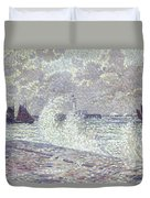The Sea During Equinox Boulogne-sur-mer Duvet Cover by Theo van Rysselberghe