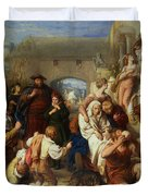 The Seven Ages Of Man Duvet Cover by William Mulready