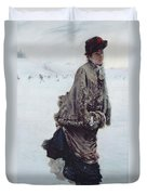The Skater Duvet Cover by Joseph de Nittis