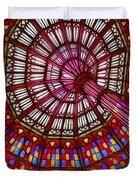 The Stained Glass Ceiling Duvet Cover by Judi Bagwell