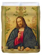 The Supper At Emmaus Duvet Cover by Vincenzo di Biaio Catena