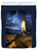 The Talacre Lighthouse Duvet Cover by Adrian Evans